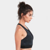 Proyog racer back bra organic cotton black side