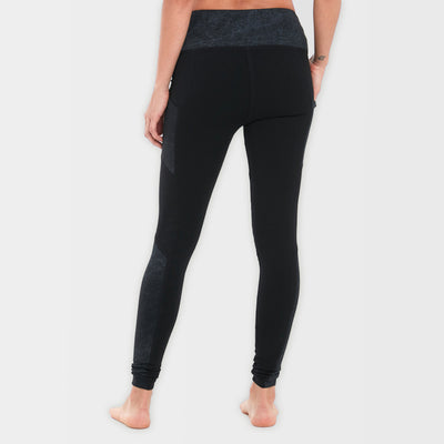 Black Organic Cotton Leggings Sexy Back