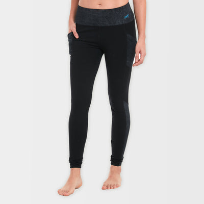 Black Organic Cotton Leggings with Broad Waistband