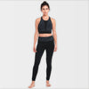 Girl in Black Organic Cotton Leggings and Crop Top