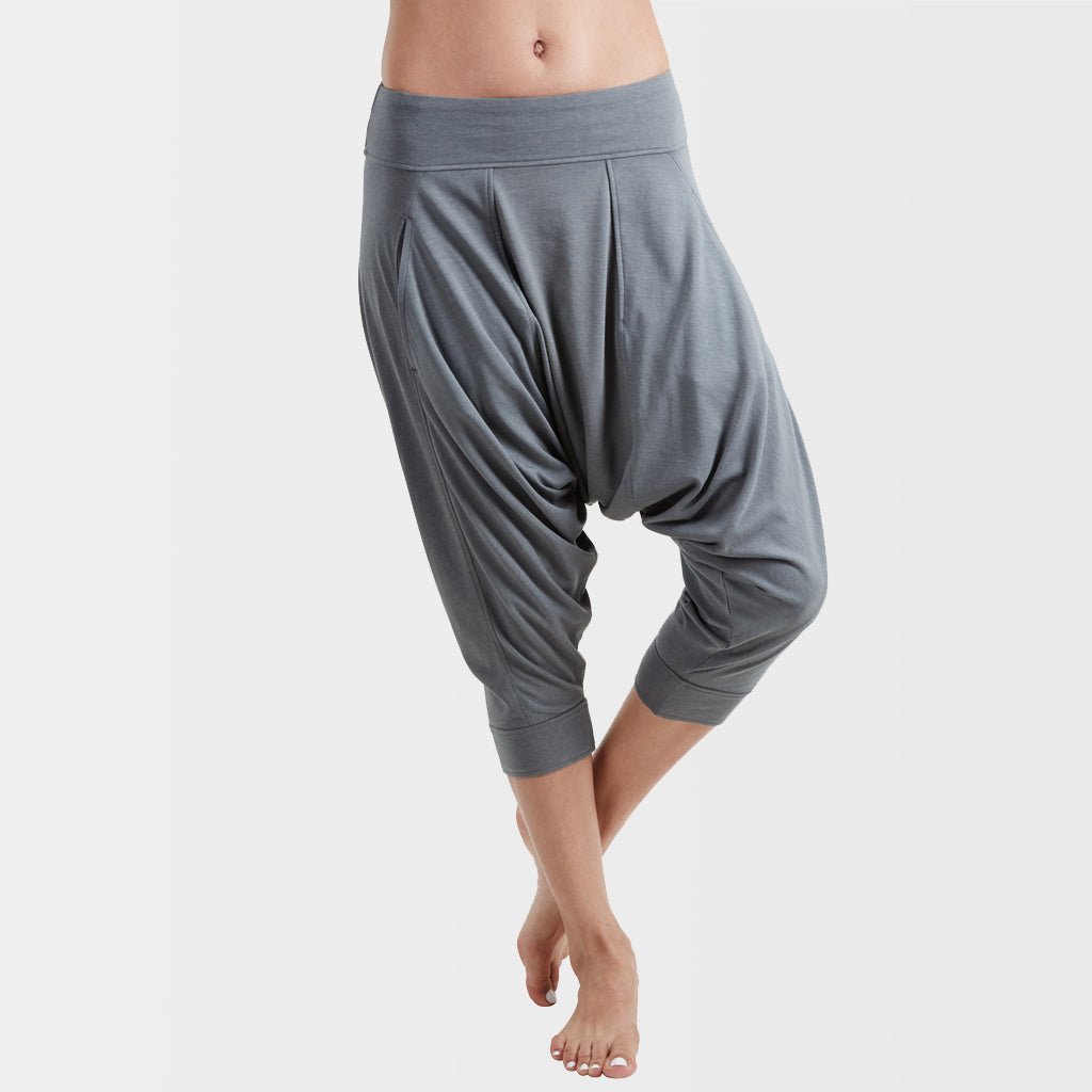 Yoga Dhoti Pants: Vira Balsam Green