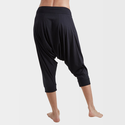 Yoga Dhoti Pants: Vira India Ink Black