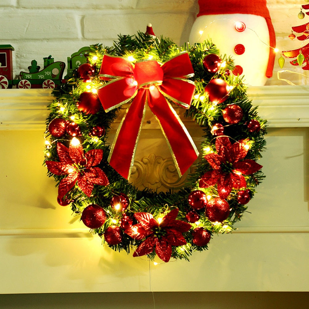 Black Friday 30 Off Get Extra 15 Off Order Over 138 Code Black15 Christmas Garland Decor Door Wall Hanging Rattan With Light