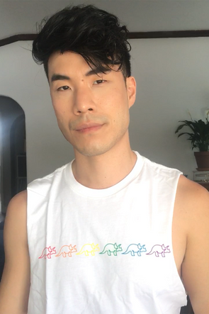 White Dino Rainbow Shirt