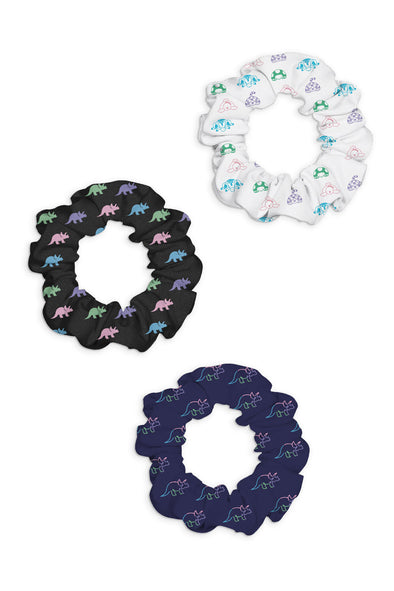 Tryceratops 3-Pack Scrunchies Set