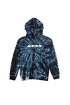 Try Guys: Spiral Black Acid Wash Tie Dye Hoodie