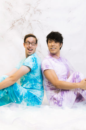 Try Guys: Cloud Blue Tie Dye Shirt