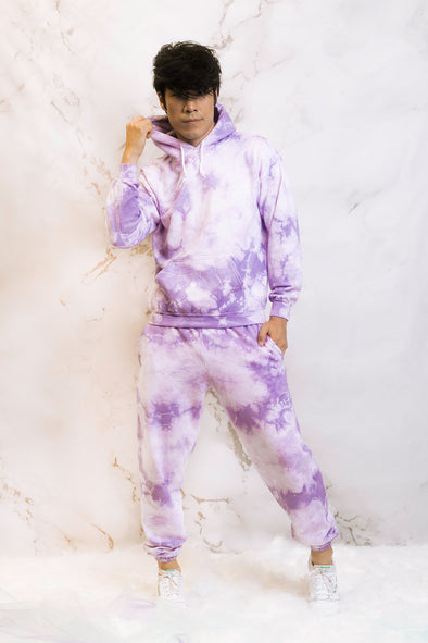 Try Guys: Cloud Purple Tie Dye Hoodie