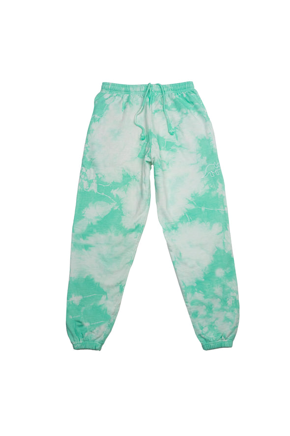 Try Guys: Cloud Green Tie Dye Sweatpants