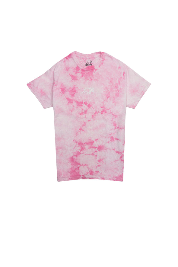 Try Guys: Cloud Pink Tie Dye Shirt