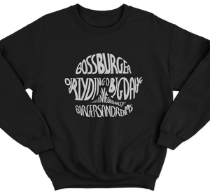 Boss Burger Lettering Jumper
