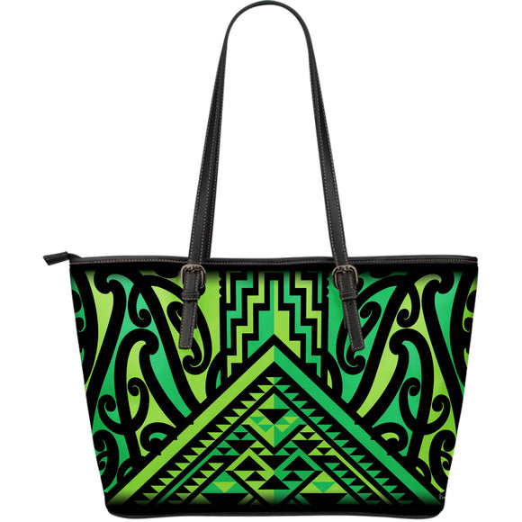 Taniko Shoulder Bag - Kawakawa (Green Lt Green) - (Xmas delivery cutoff - 16 Nov)
