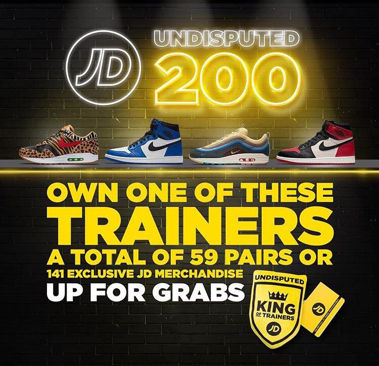 f9b403438a JD Sports SG Celebrates Flagship Store Opening: 'Undisputed 200' - Sneakest