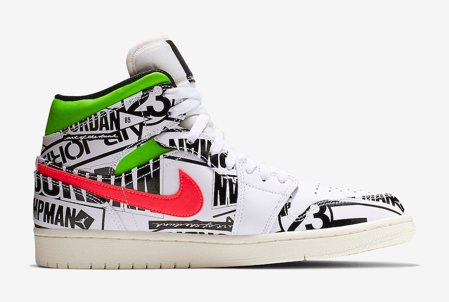 Air Jordan 1 Mid All-Over Print