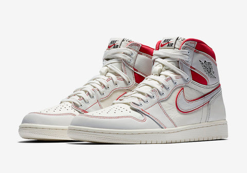 Air Jordan 1 Retro High OG 'Sail/University Red'
