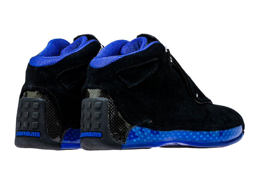 de7e8c4c1100 Singapore Release  Air Jordan 18 Retro  Black Sport Royal  - Sneakest