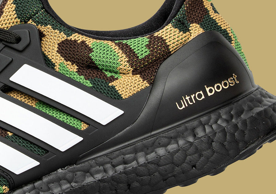 a4667aff4a58c Singapore Release  Bape x Adidas Ultra Boost  Green Camo  - Sneakest