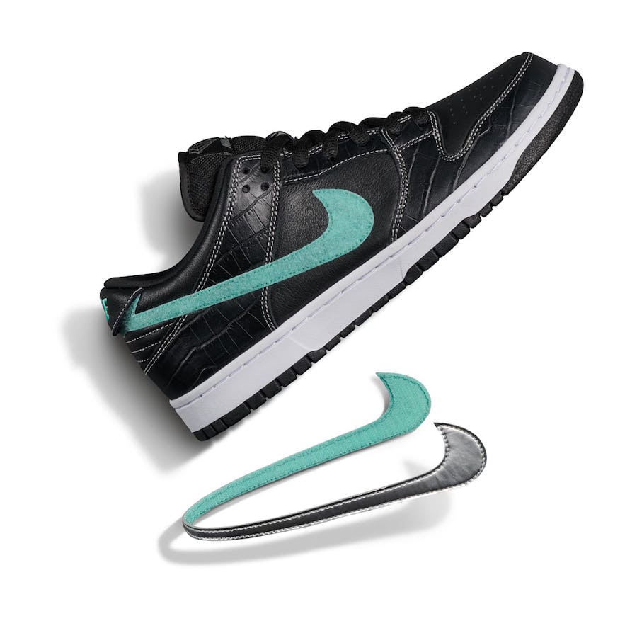 d392c760a8c8 Release Date  Diamond Supply Co. x Nike SB Dunk Low  Black Diamond ...