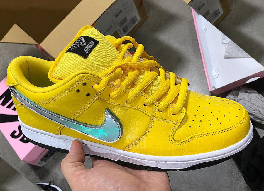 395db8f455 Release Date: Diamond Supply Co. x Nike SB Dunk Low 'Yellow' - Sneakest