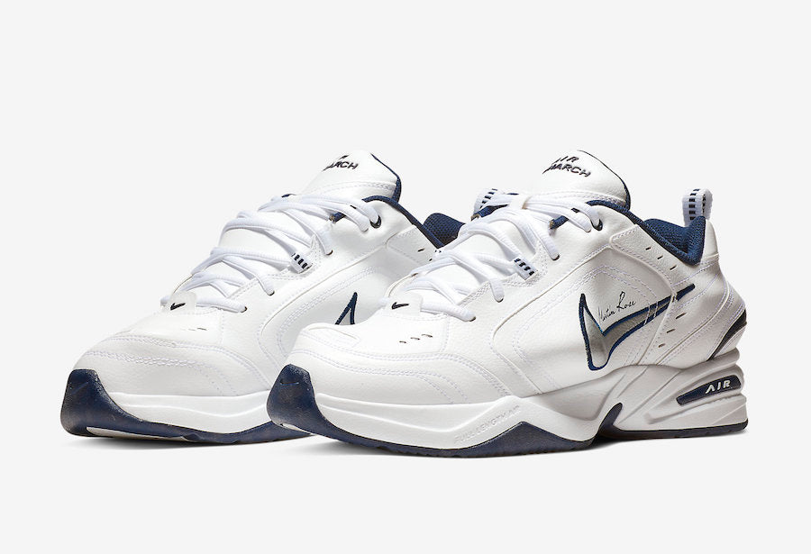 Martine Rose x Nike Air Monarch IV 'White/Midnight Navy'