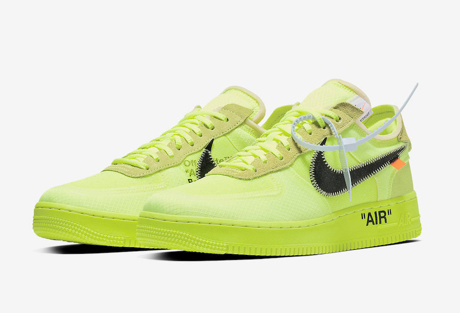 Singapore Release  Off-White x Nike Air Force 1  Volt  - Sneakest e151ac006621