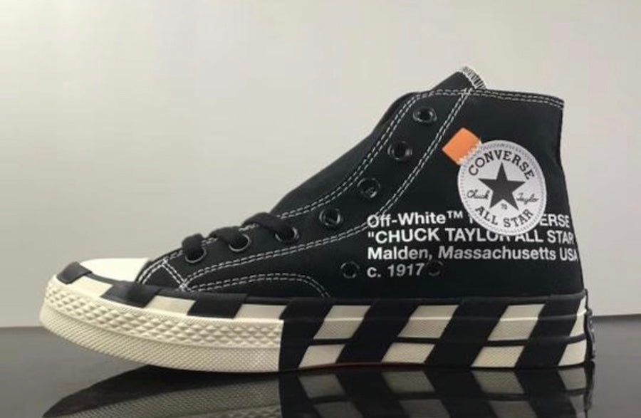 5f7251b4be69 Off-White x Converse Chuck Taylor 70  Black  - Sneakest