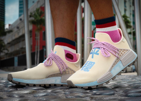 9097221cb Pharrell Williams x Adidas NMD HU  N.E.R.D. - Cream Pink