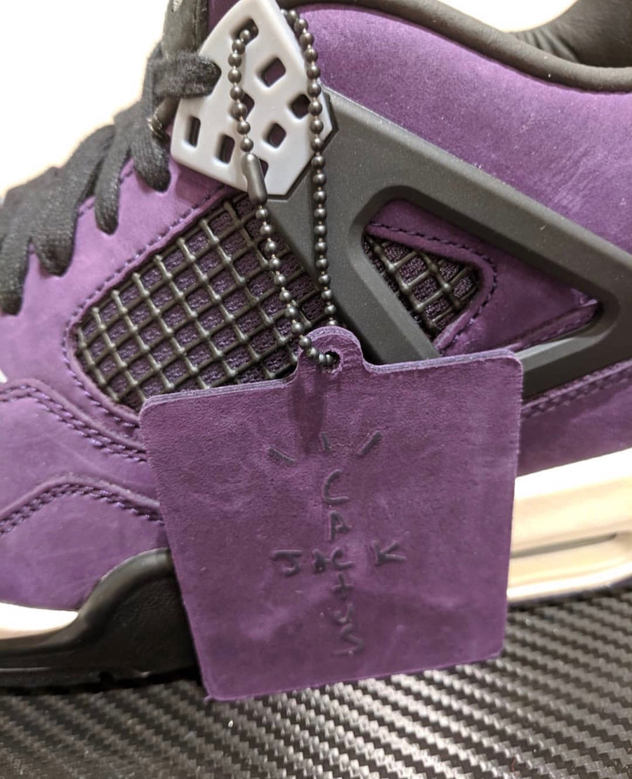 check out f2779 adf8a Travis Scott x Air Jordan 4 Retro 'Purple - Friends & Family ...