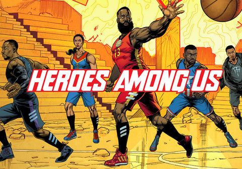 Marvel Avengers x Adidas Basketball 'Heroes Among Us'