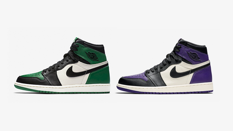 Air Jordan 1 Retro High OG Pine Green & Court Purple