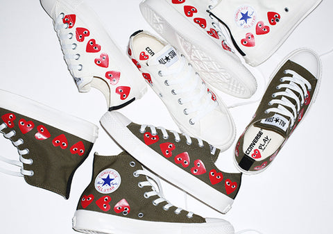 COMME des Garcons PLAY x Converse Chuck Taylor 'Olive/White'