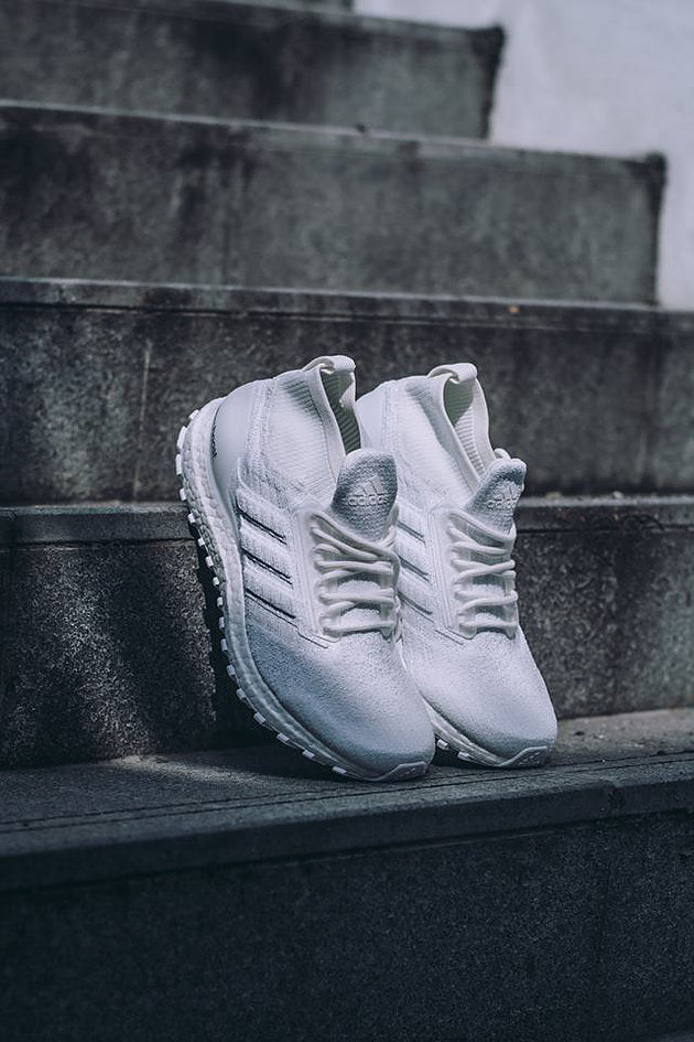 c727cf251ca98 The Adidas Ultra Boost ATR Mid  Triple White  is perfect for fans of White  sneakers as the water-repellent feature will keep the sneakers fresh and  crisp ...