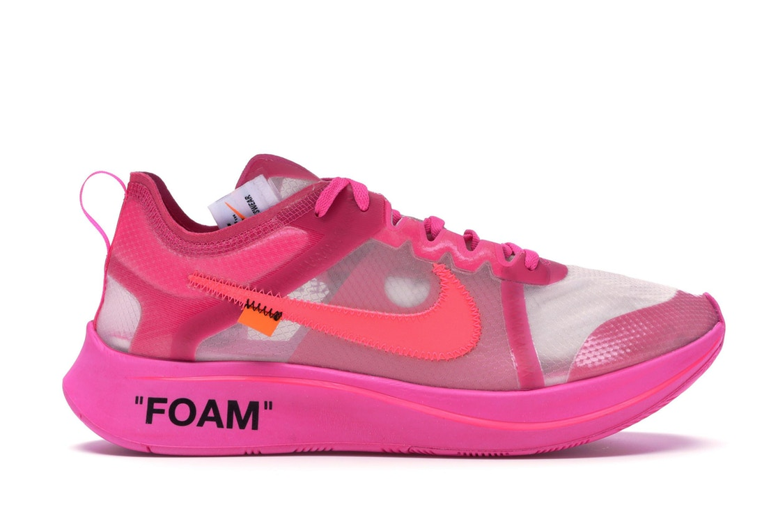 9a3a9a92fe942 Size 9.5 Off White x Nike Zoom Fly SP Pink