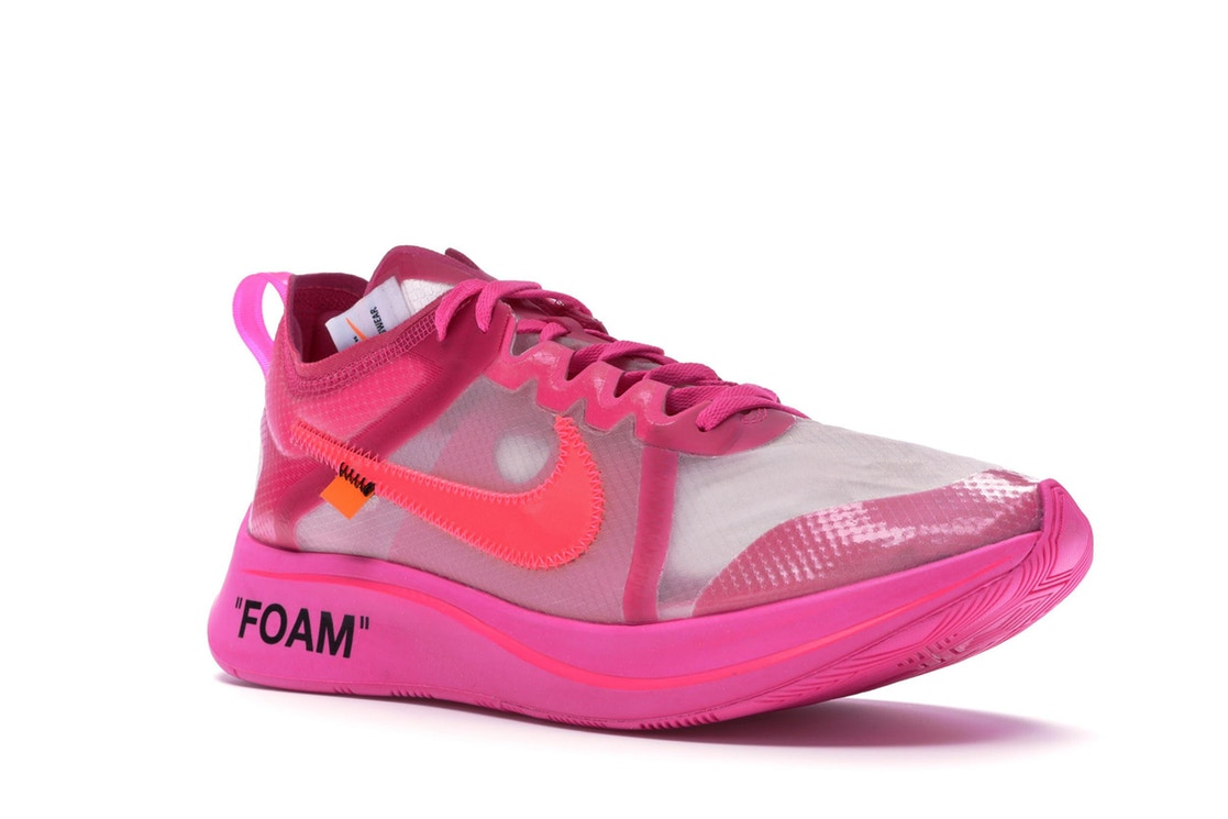 fcc181f9bd72 Size 9.5 Off White x Nike Zoom Fly SP Pink - Sneakest