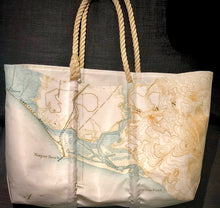 Load image into Gallery viewer, SEABAGS- NEWPORT HARBOR CHART TOTE