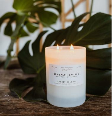 14 oz. Tumbler Candle- Sea Salt + Bay Rum