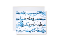 Load image into Gallery viewer, Sending You Good Vibes Wave Stripe Card