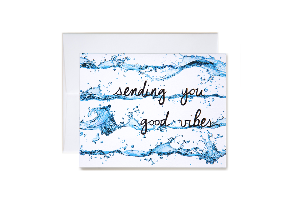 Sending You Good Vibes Wave Stripe Card