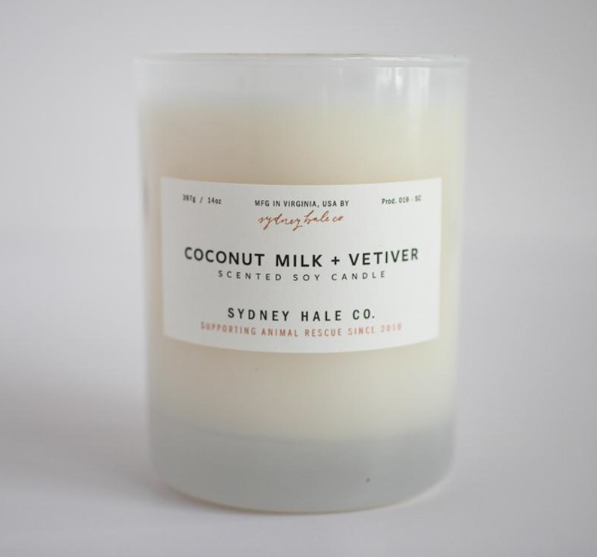 14oz Coconut Milk +Vetiver Candle