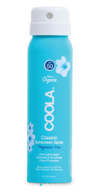 TRAVEL SIZE CLASSIC BODY ORGANIC SUNSCREEN SPRAY SPF 50- UNSCENTED