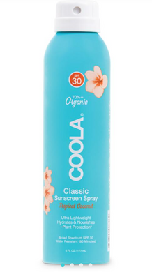 CLASSIC BODY ORGANIC SUNSCREEN SPRAY SPF 30- TROPICAL COCONUT