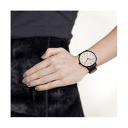 Black Leather Watch - Everyday Casual - Men's Women's - British Design - Newgate Blip WWMBLPBK064LK (lifestyle) 1