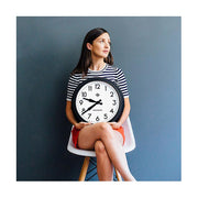 Black Station Wall Clock - Retro Mid-Century - Newgate Electric GWL12MK (lifestyle) 1 copy