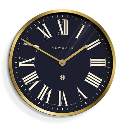 Brass Roman Numeral Wall Clock - Mr Butler - PUT735RAB - skew