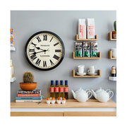 Black Station Wall Clock - Roman Numeral - Classic Large - Newgate Battersby CLJ71K (home accessories) 1 copy