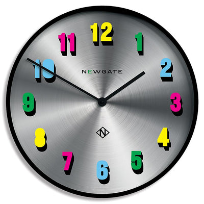 Modern Colourful Numeral Wall Clock - Limited Edition - Newgate Eye Candy NUMXEYE