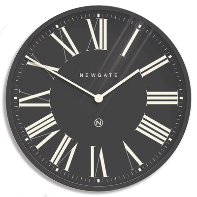 Extra Large Number X Music Hall wall clock in Blizzard Grey with Roman numerals by Newgate World - NUMXMHALL175BGY