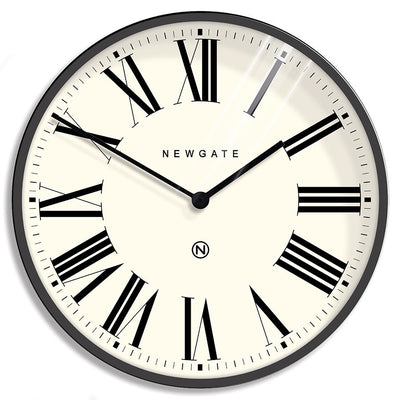 Extra Large Number X Music Hall wall clock in Blizzard Grey with Roman numerals by Newgate World - NUMXMHALL285BGY