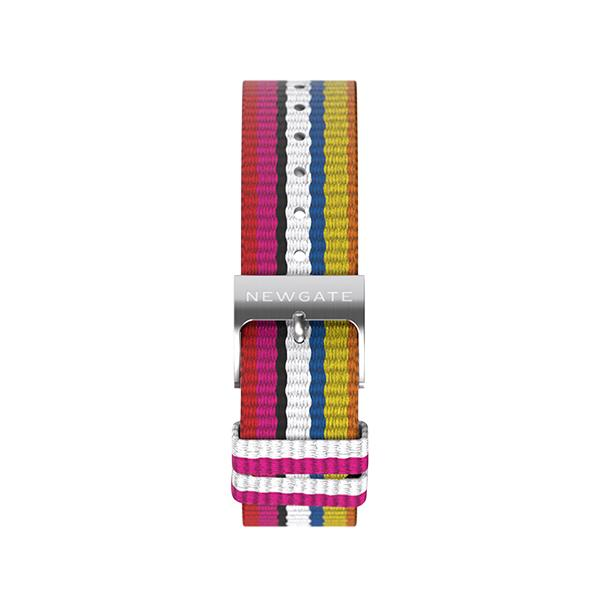 G6S Multicolour Striped Canvas Watch Strap - Bikini - Reverse