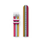 G6S Multicolour Striped Canvas Watch Strap - Bikini
